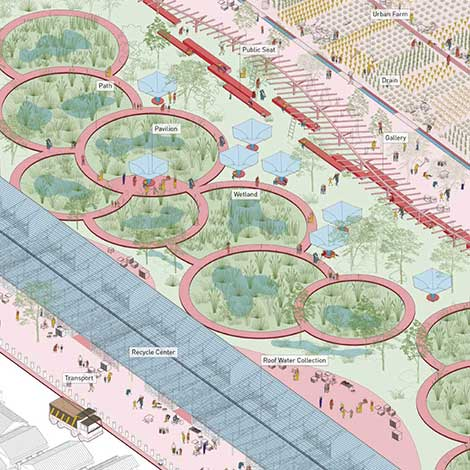 Green Convergence: Resilient Corridor for Jaipur // Xuefei Yang + Chaoming Li