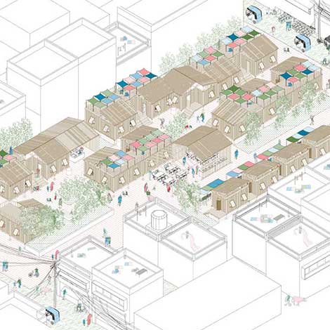 Shelter Design for Homeless Migrant Workers in Jaipur // Zhilu Wang