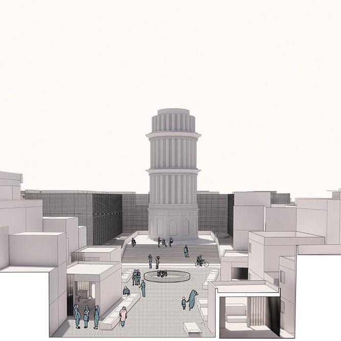 Recovery of Hasthal Minar as public heritage site // Kareem Elsandouby